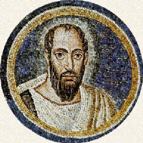 St. Paul. Mosaic in the Archbishop's Chapel, Ravenna, 5th century AD